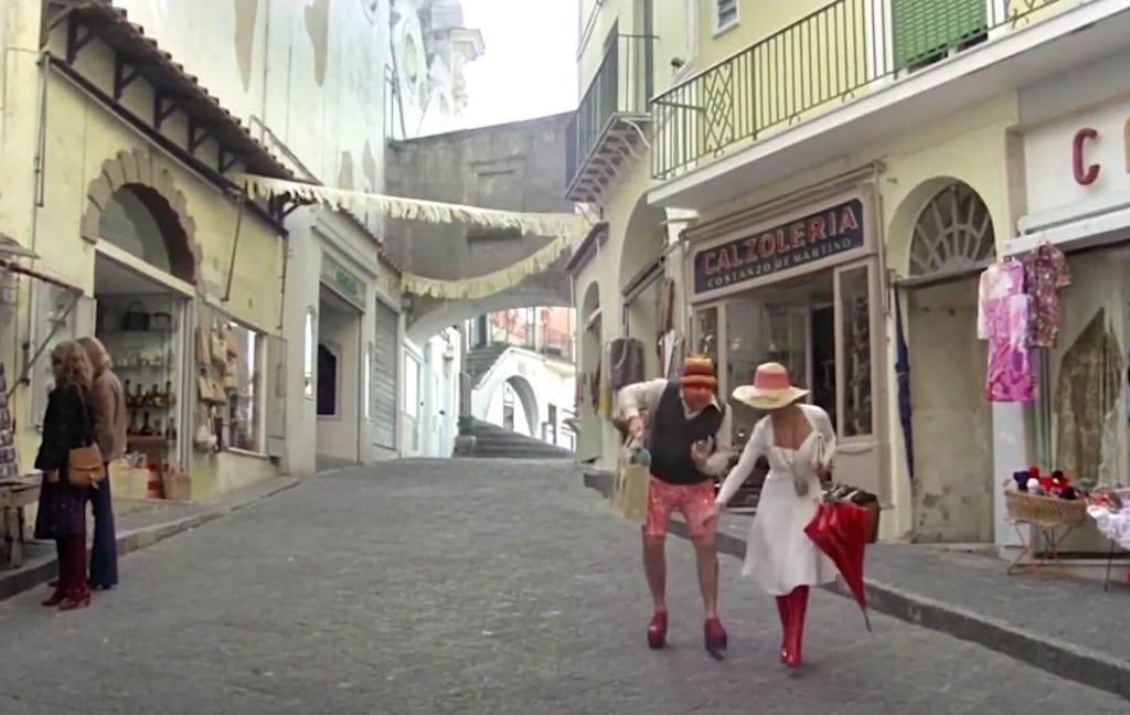 Shopping di Fantozzi a Capri