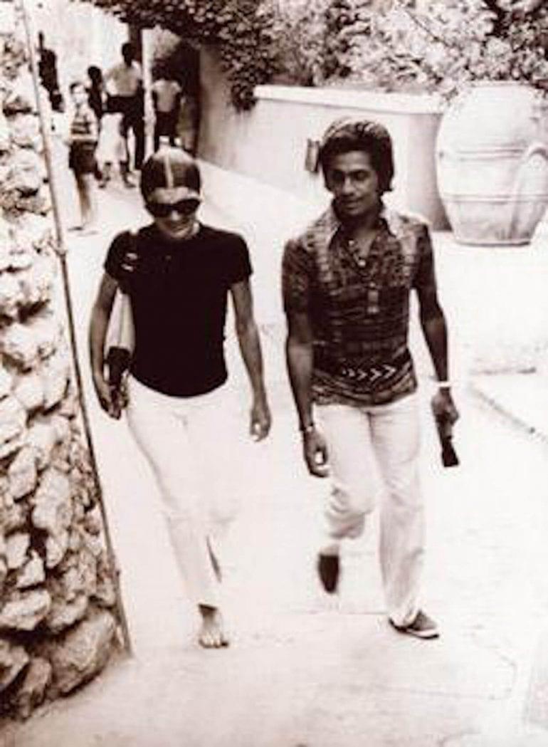 Jackie Kennedy Capri con Valentino